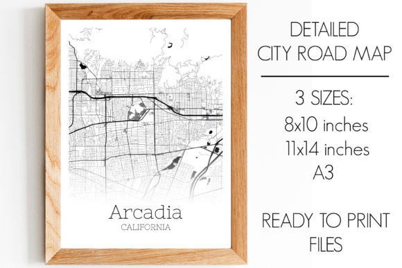 Download Free Arcadia California City Map Graphic By Svgexpress Creative Fabrica SVG Cut Files