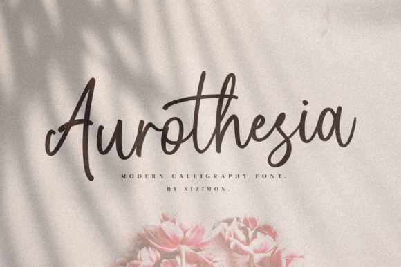 Print on Demand: Aurothesia Script & Handwritten Font By Sizimon