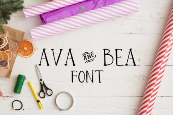 Print on Demand: Ava and Bea Serif Font By carina2