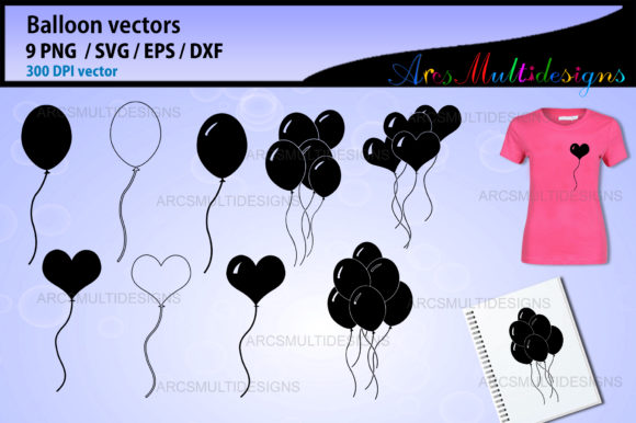 Print on Demand: Balloon Graphic Illustrations By Arcs Multidesigns