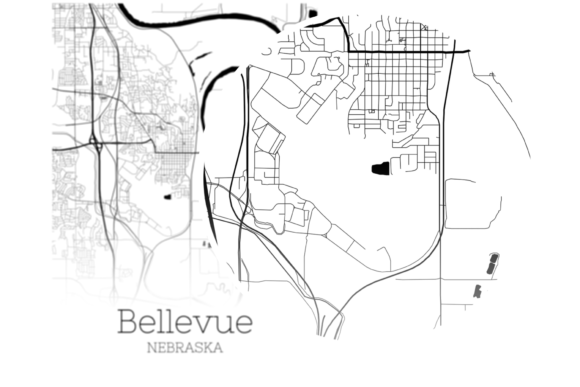 Download Free Bellevue Nebraska City Map Graphic By Svgexpress Creative Fabrica for Cricut Explore, Silhouette and other cutting machines.