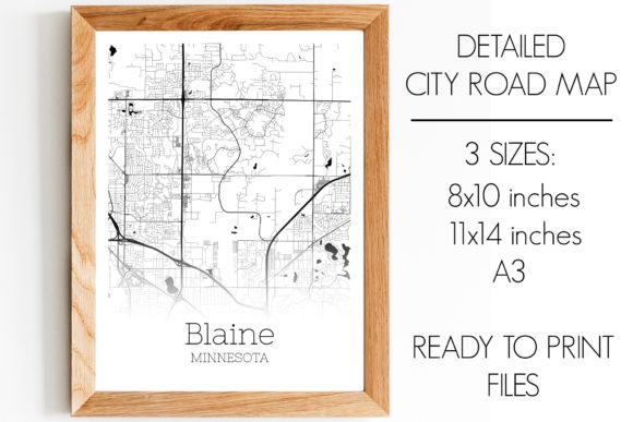 Print on Demand: Blaine Minnesota City Map Graphic Photos By SVGExpress