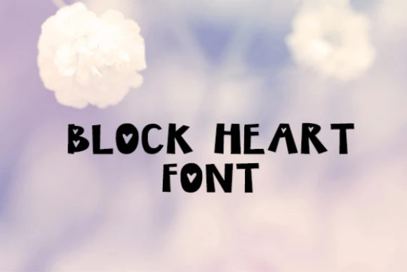 Print on Demand: Block Heart Display Font By carina2
