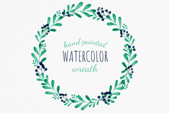 Download Free 1 Winter Wreath Clipart Designs Graphics for Cricut Explore, Silhouette and other cutting machines.