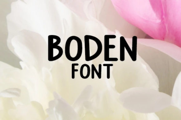 Print on Demand: Boden Alpha Display Font By carina2