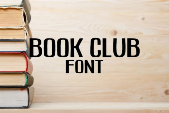 Print on Demand: Book Club Display Font By carina2