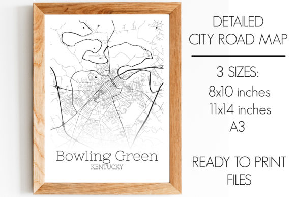 Print on Demand: Bowling Green Kentucky City Map Graphic Photos By SVGExpress