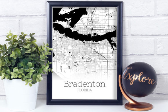 Download Free Bradenton Florida City Map Graphic By Svgexpress Creative Fabrica for Cricut Explore, Silhouette and other cutting machines.