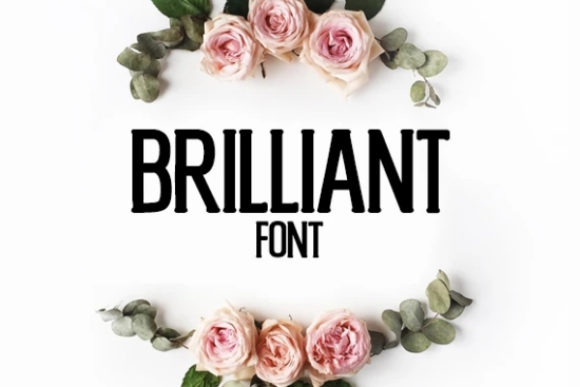 Print on Demand: Brilliant Display Font By carina2