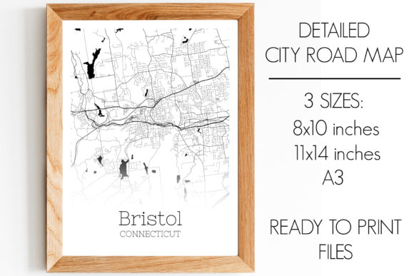 Print on Demand: Bristol Connecticut City Map Graphic Photos By SVGExpress