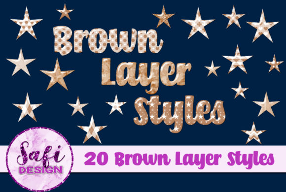 Print on Demand: Brown Photoshop Layer Styles Graphic Layer Styles By Safi Designs
