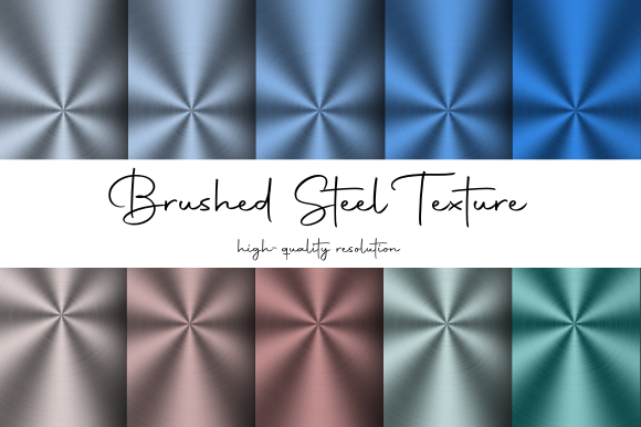 Print on Demand: Brushed Steel Texture Graphic Textures By atlasart