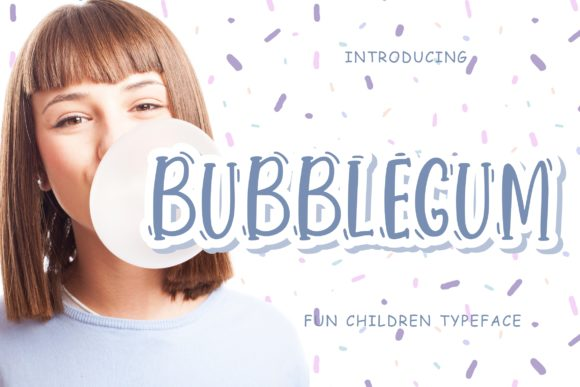 Print on Demand: Bubblegum Display Font By CreatypeStudio