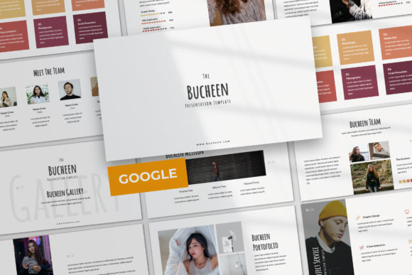 Download Free Bucheen Google Slide Graphic By Temp Here Creative Fabrica for Cricut Explore, Silhouette and other cutting machines.