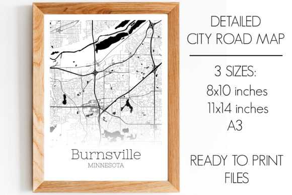 Print on Demand: Burnsville Minnesota City Map Graphic Photos By SVGExpress