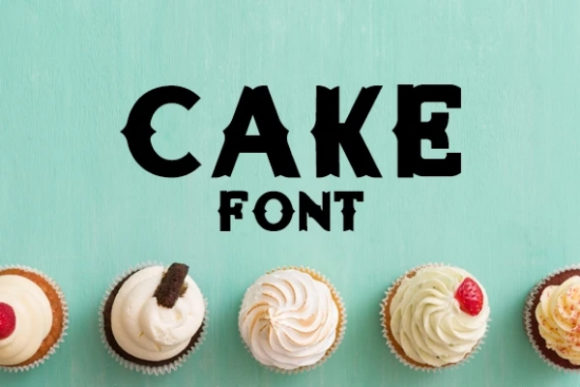 Print on Demand: Cake Display Font By carina2