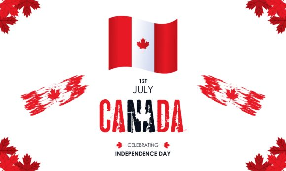 Celebration Canada Day Background Logo Graphic Free Download