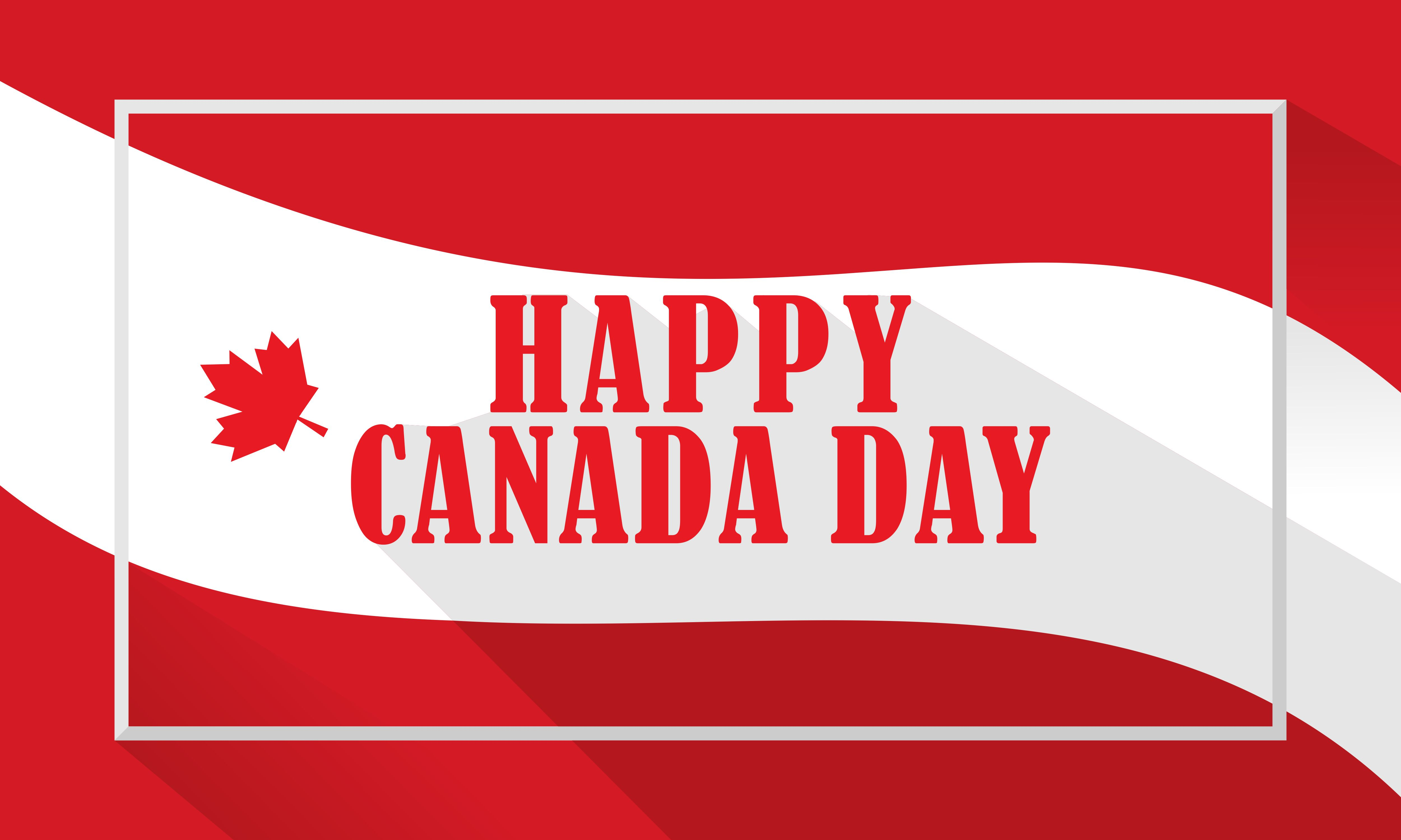 Download Free Celebration Canada Day Background Logo Graphic By Deemka Studio for Cricut Explore, Silhouette and other cutting machines.