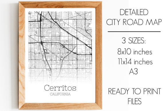 Print on Demand: Cerritos California City Map Graphic Photos By SVGExpress