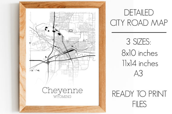Print on Demand: Cheyenne Wyoming City Map Graphic Photos By SVGExpress