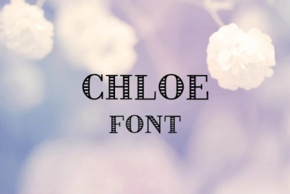 Print on Demand: Chloe Display Font By carina2
