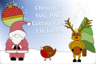 Christmas Cut Files.136 Files Bundle Graphic 3D Christmas By DigitalCraftsco