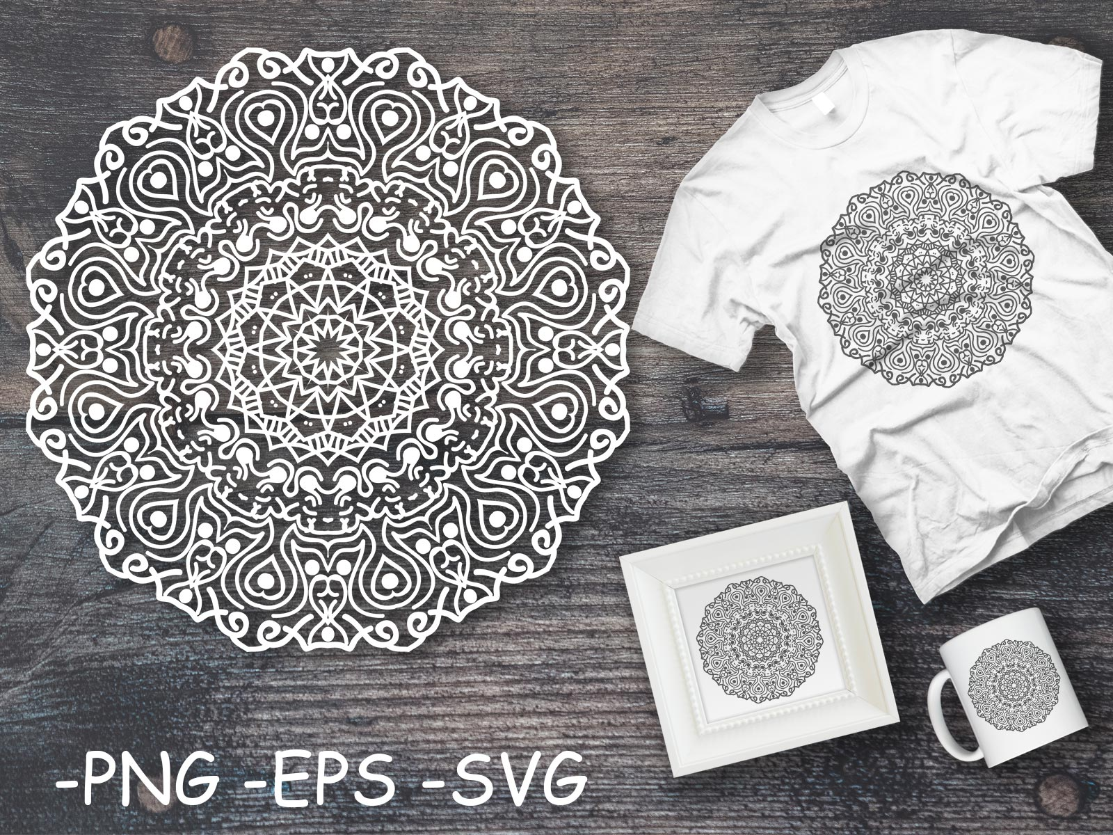 Download Free Circular Pattern Mandala Art 7 Graphic By Azrielmch Creative for Cricut Explore, Silhouette and other cutting machines.