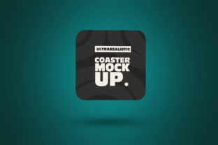 Print on Demand: Clean Square Coaster Mockup Graphic Product Mockups By SmartDesigns