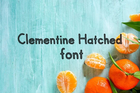 Print on Demand: Clementine Display Font By carina2
