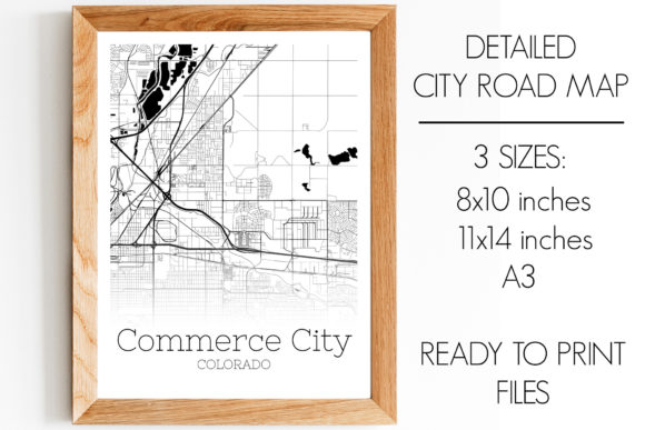 Print on Demand: Commerce City Colorado City Map Graphic Photos By SVGExpress