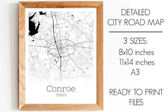 Print on Demand: Conroe Texas City Map Graphic Photos By SVGExpress