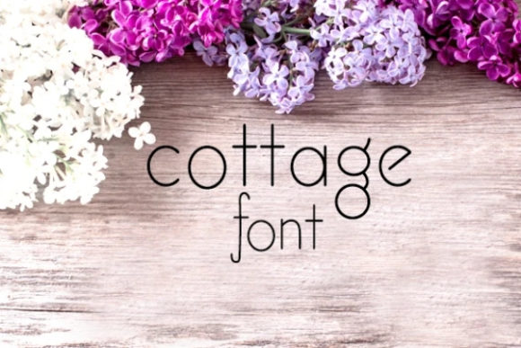 Print on Demand: Cottage Serif Font By carina2