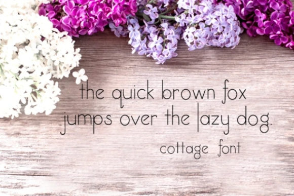 Print on Demand: Cottage Serif Font By carina2 - Image 2