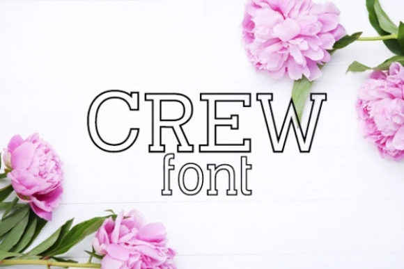 Print on Demand: Crew Display Font By carina2