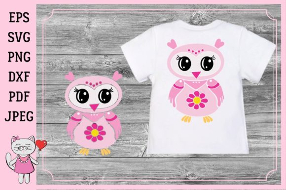 Download Free Cute Pink Owl Cliparts Graphics Graphic By Magic World Of SVG Cut Files