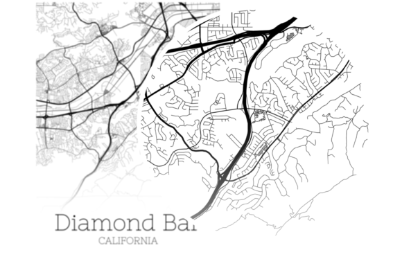 Download Free Diamond Bar California City Map Graphic By Svgexpress Creative for Cricut Explore, Silhouette and other cutting machines.