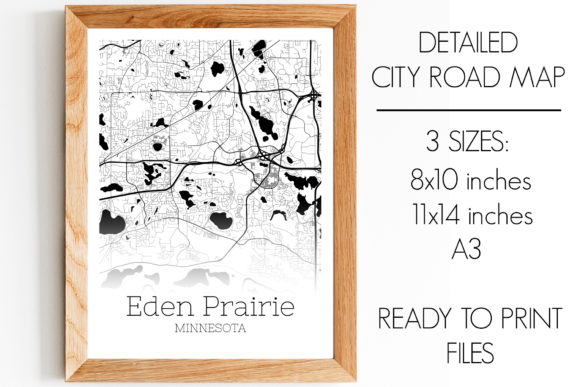 Print on Demand: Eden Prairie Minnesota City Map Graphic Photos By SVGExpress