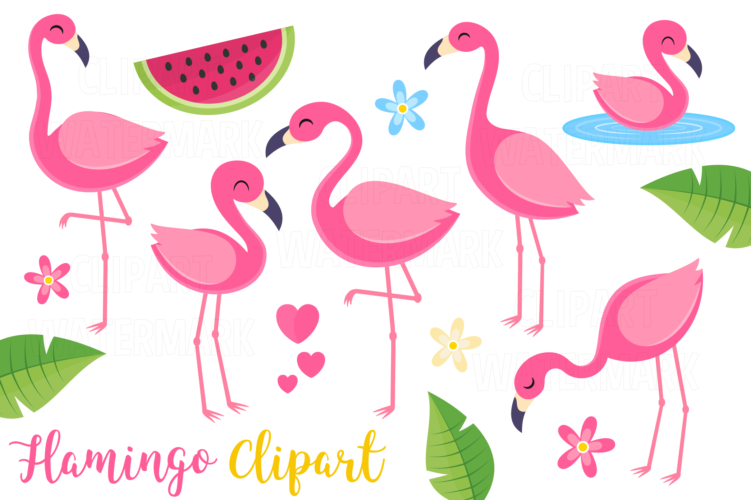 Download Free Flamingo Clipart Graphic By Magreenhouse Creative Fabrica SVG Cut Files