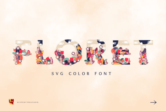Print on Demand: Floret Color Fonts Font By heypentype
