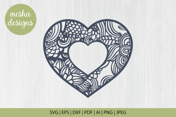 Download Free Flower Heart Frame Cut File Graphic By Diycuttingfiles for Cricut Explore, Silhouette and other cutting machines.