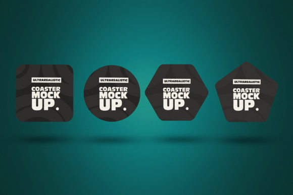 Four Coasters Clean Mockups Graphic Product Mockups By SmartDesigns