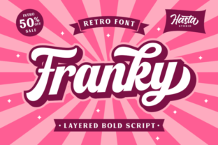 Print on Demand: Franky Script & Handwritten Font By IklazStudio