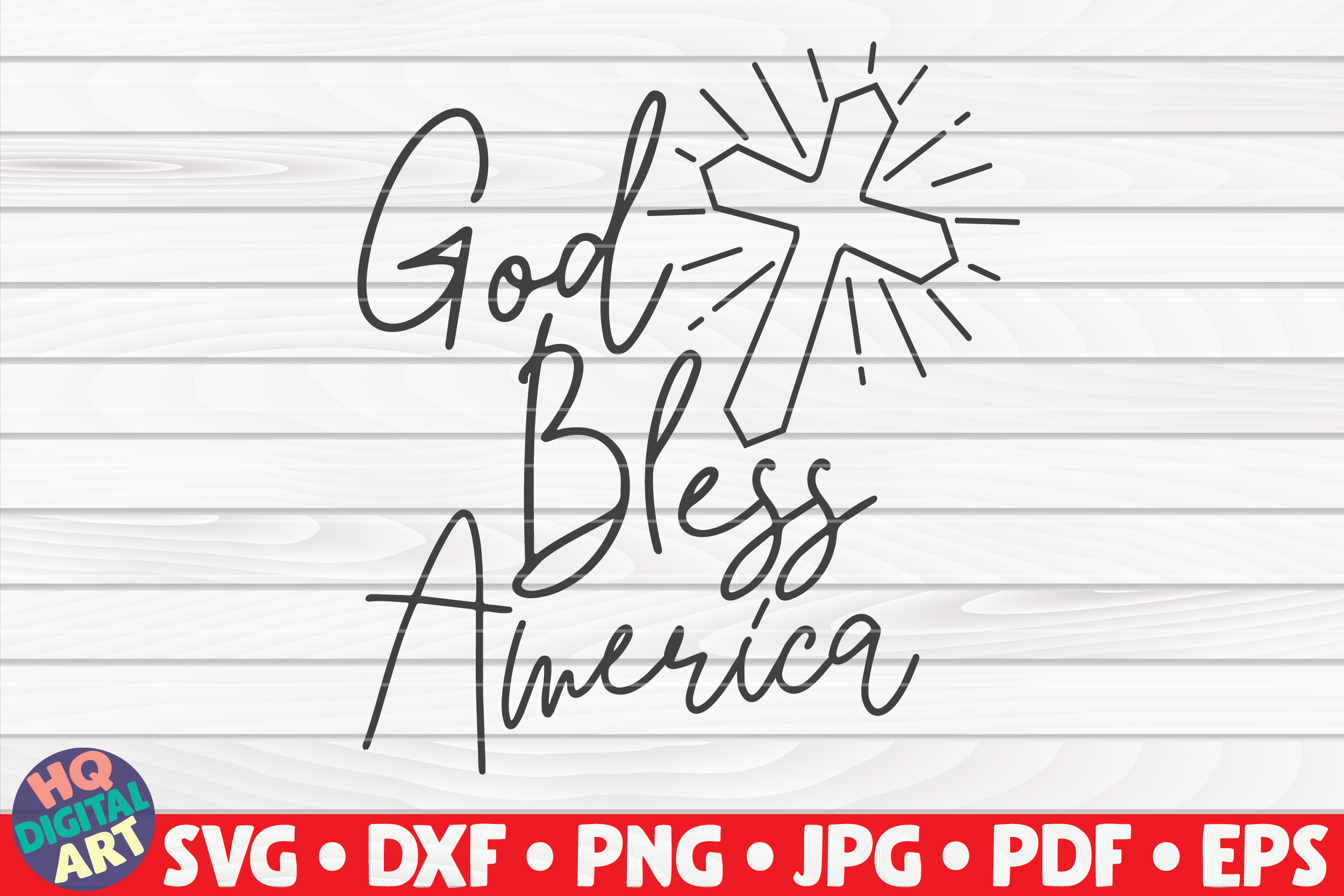 Download Free God Bless America 4th Of July Graphic By Mihaibadea95 for Cricut Explore, Silhouette and other cutting machines.