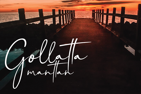 Print on Demand: Gollatta Manttan Script & Handwritten Font By andikastudio