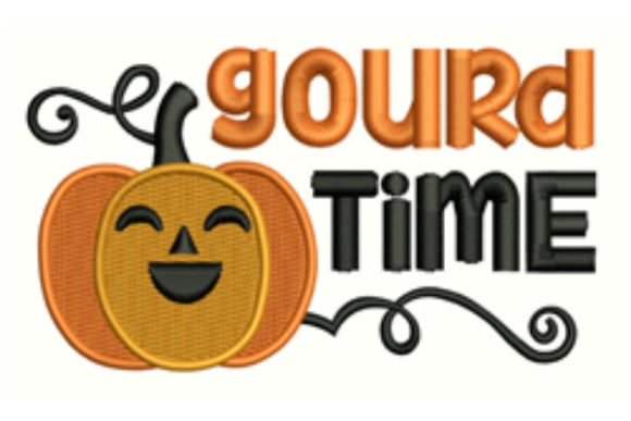 Gourd Time Halloween Embroidery Design By designsbymira