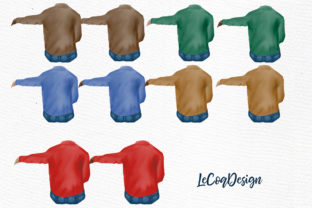 Print on Demand: Grandpa Clipart Father's Day Clipart Graphic Illustrations By LeCoqDesign 2