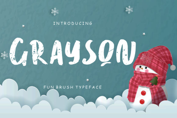 Print on Demand: Grayson Script & Handwritten Font By CreatypeStudio