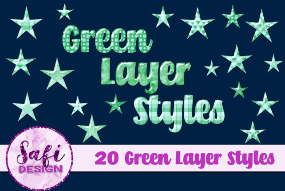 Print on Demand: Green Photoshop Layer Styles Graphic Layer Styles By Safi Designs
