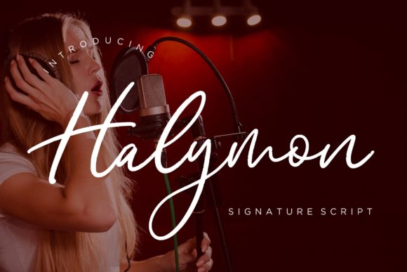 Print on Demand: Halymon Script & Handwritten Font By CreatypeStudio