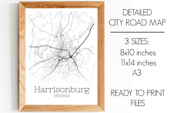 Print on Demand: Harrisonburg Virginia City Map Graphic Photos By SVGExpress